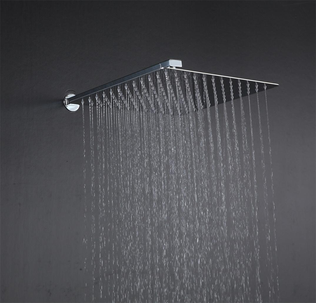 LED shower set square head 12 to 24 inches SUS304 3