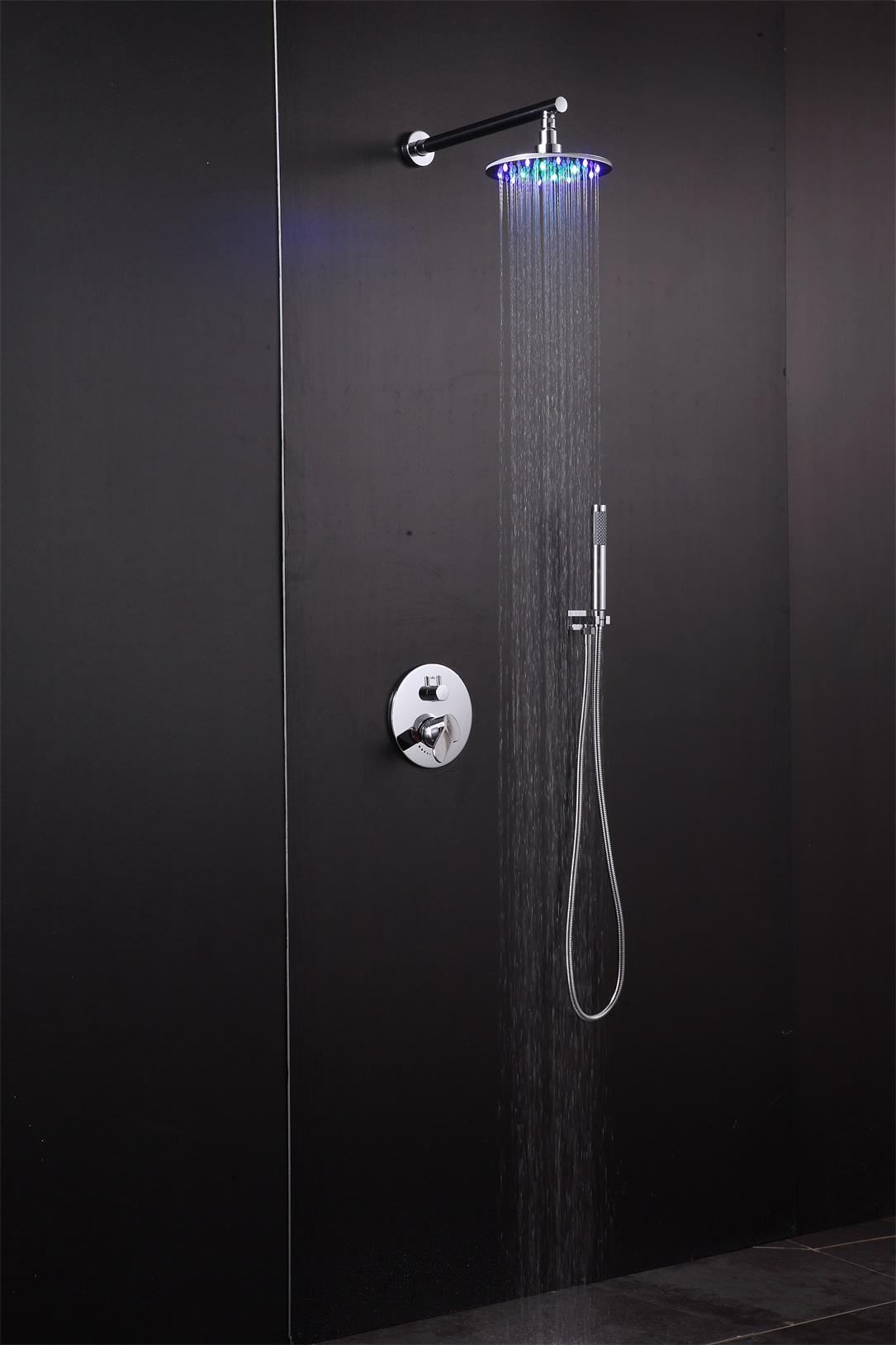rain shower head set SUS304 round wall mounted  2