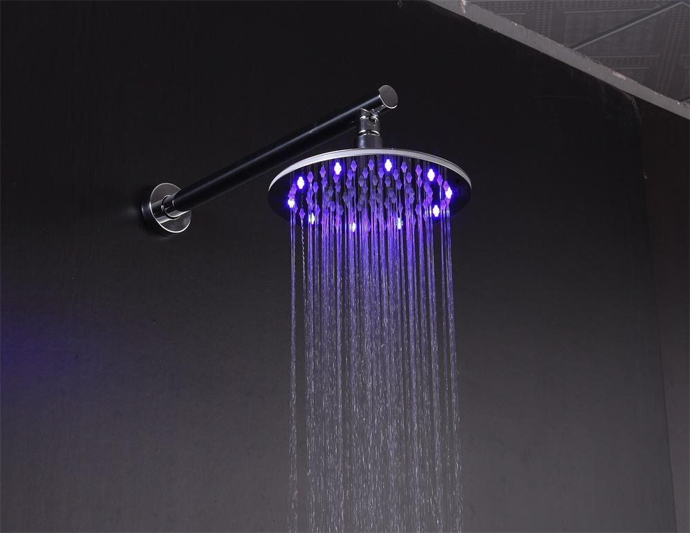 rain shower head set SUS304 round wall mounted  3
