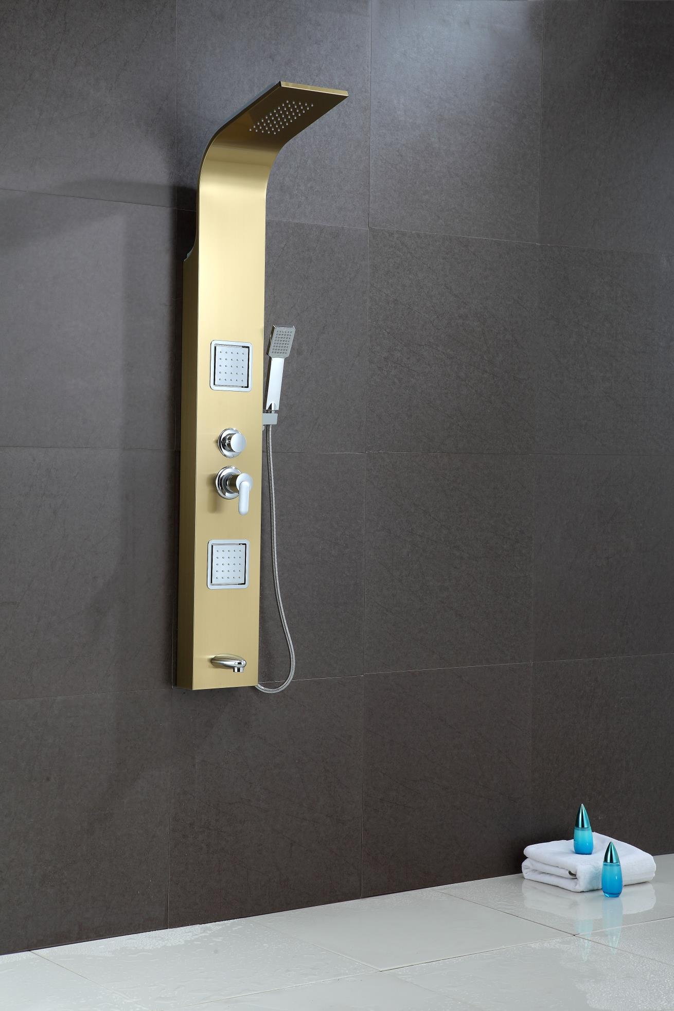 SUS304 shower panel rain hand shower wall mounted shower room fitting 1