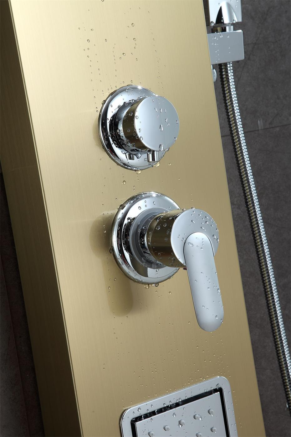 SUS304 shower panel rain hand shower wall mounted shower room fitting 5