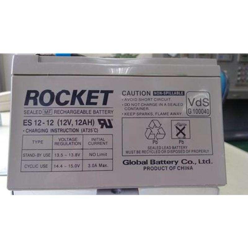 韓國ROCKET蓄電池ES12-7 深循環儲能鉛酸電源 1