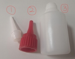 Super glue bottle HDPE adhesive plastic package