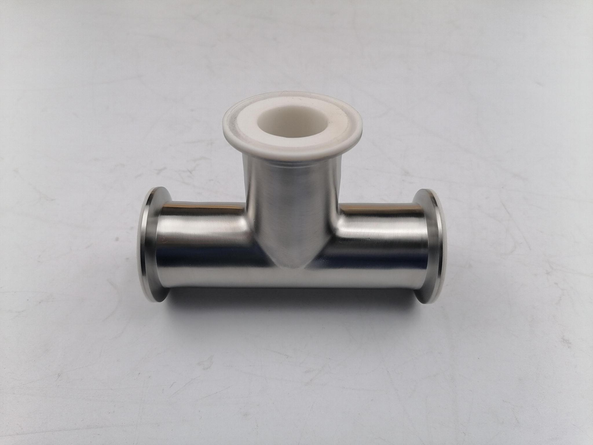 卫生级快装衬氟三通  衬氟三通 衬氟管道及配件 3