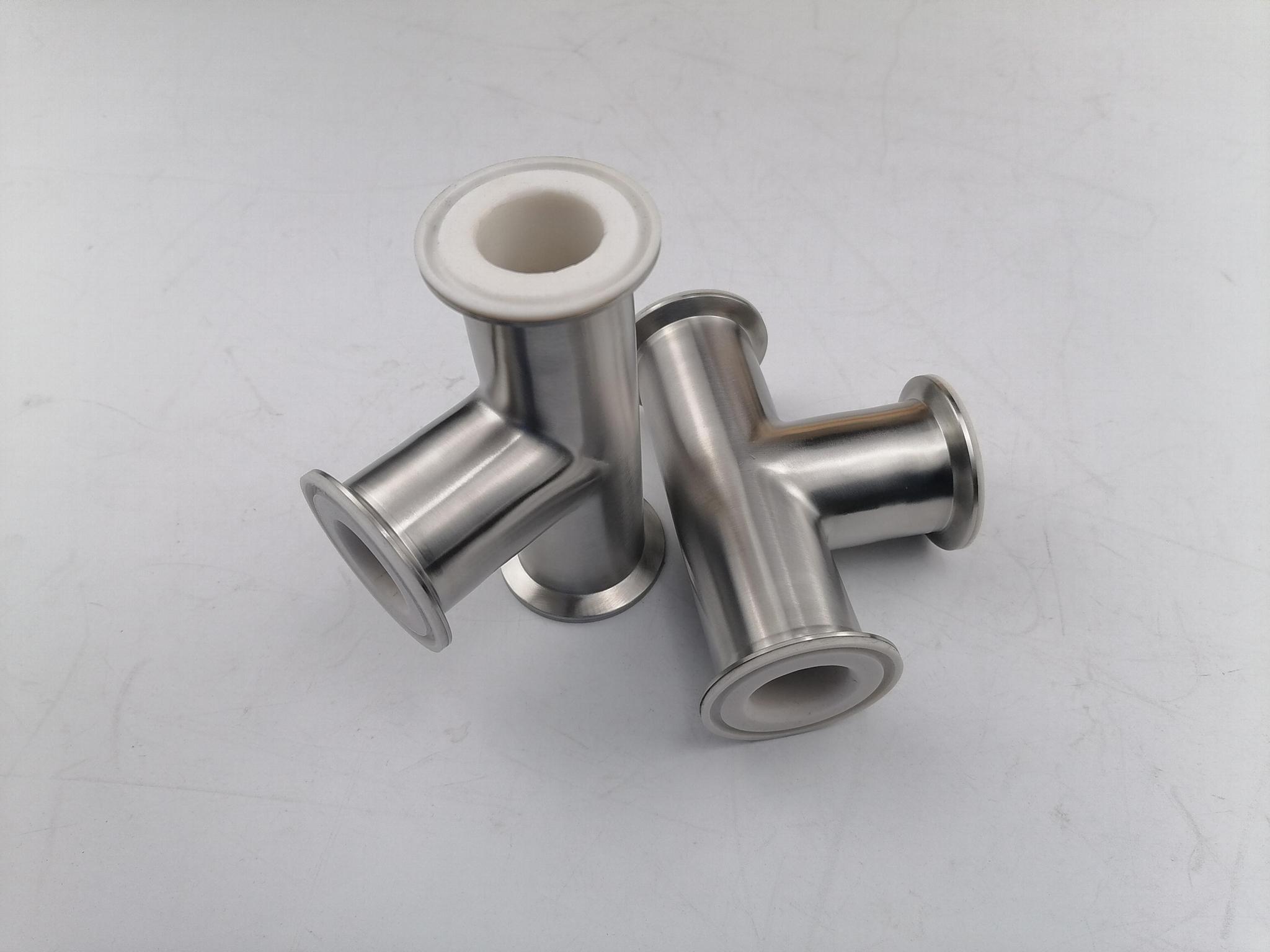 卫生级快装衬氟三通  衬氟三通 衬氟管道及配件 4