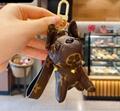 rabbit bear bullfighting dog car bag key chain