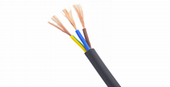 CU/PVC/PVC H05VV-F H05VVH2-F Flat Flexible PVC Cable