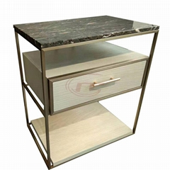 Hotel Nightstand with 1pc Drawer and Stone Top