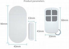 135 remote control winow door alarm/door bell,door sensor alarm