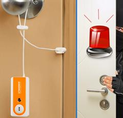 130db traveling personal alarm/door stopper alarm