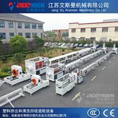 HDPE给水管材生产线 20-250mmMPP电力管材挤出机