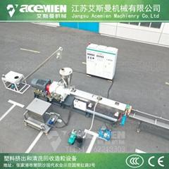 PE色母料改性造粒机 TSK75平双钙母料填充水拉条造粒设备