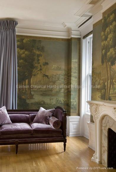 全景手绘风景壁纸壁画 3