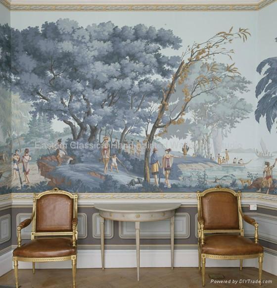 全景手绘风景壁纸壁画 4
