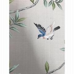 中國風手繪牆紙上銀灰色竹節絲