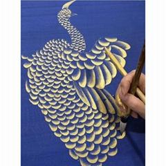 中國風手繪真絲壁紙牆紙