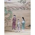中国风手绘丝绸壁纸