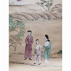 中國風手繪絲綢壁紙