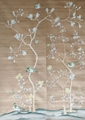 手绘梅花金镀金纸壁纸的酒店