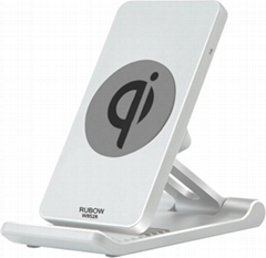 HOT SALES 10W DESK QI WIRELESS CHARGER WIRELESS INDUCTION DUAL COIL CHARGER DESK