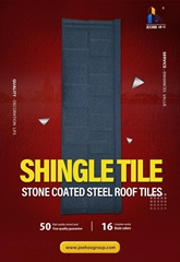stone chip coated metal roof tiles
