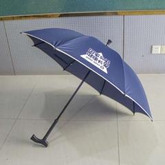 广州中益厂家定制老人拐杖伞可定制logo老人礼品雨伞防滑伞广告伞