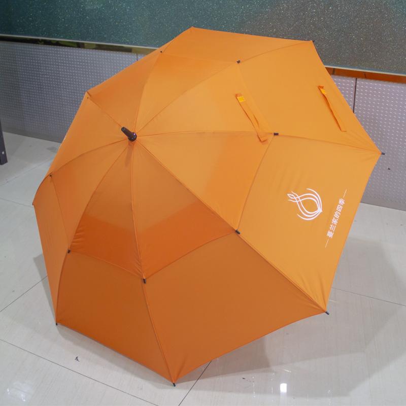 30寸真双层直杆纤维广告伞创意伞东方名源酒店商务伞礼品伞广告伞 1