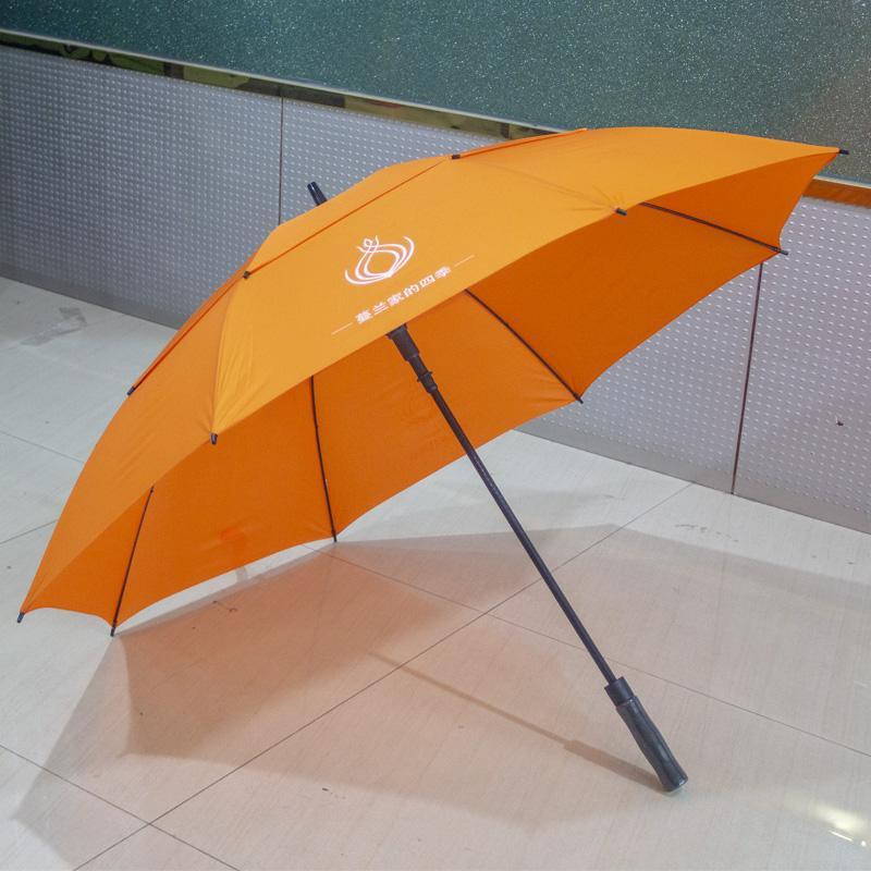 30寸真双层直杆纤维广告伞创意伞东方名源酒店商务伞礼品伞广告伞 2
