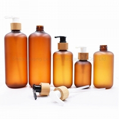Factory Wholesale Amber Frosted Plastic Lotion Bottles