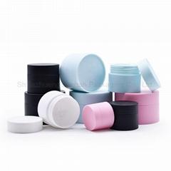 White Blue Pink Cosmetic Cream Jars Plastic Bottles and Jars