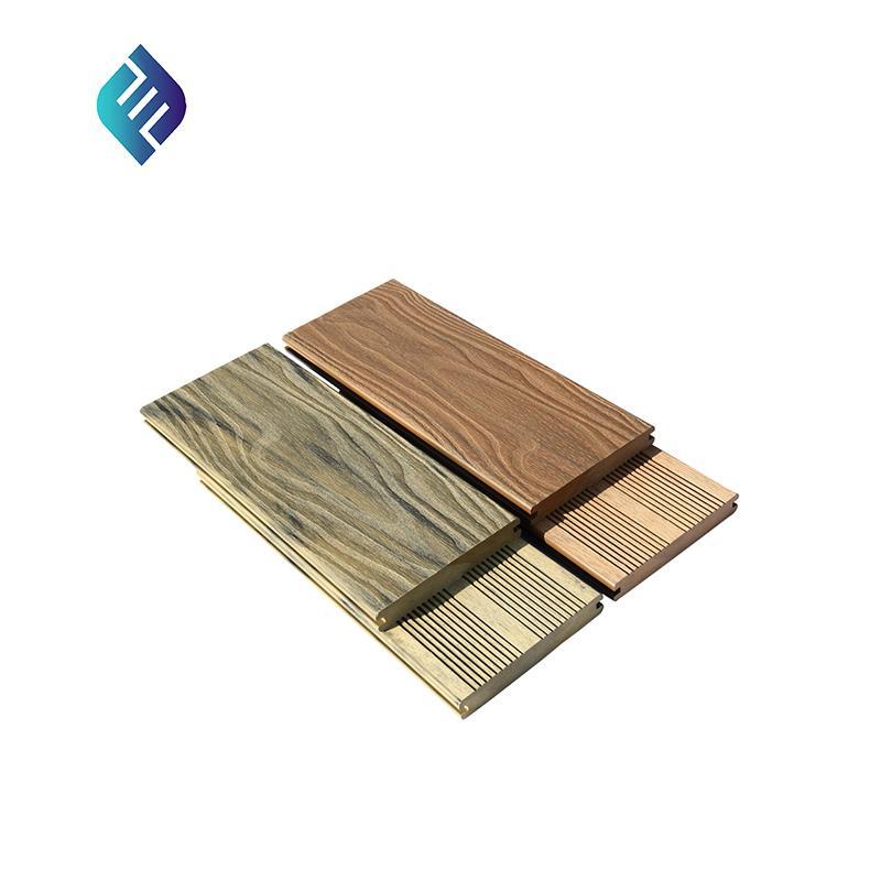 Deep 3D wood grain panel PE WPC Composite outdoor wall cladding 1