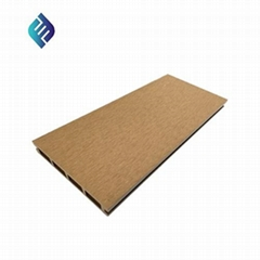 Hollow Flat Surface Wood Plastic Composite Decking Board