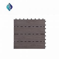 Outdoor 3D embossed flooring WPC decking tiles