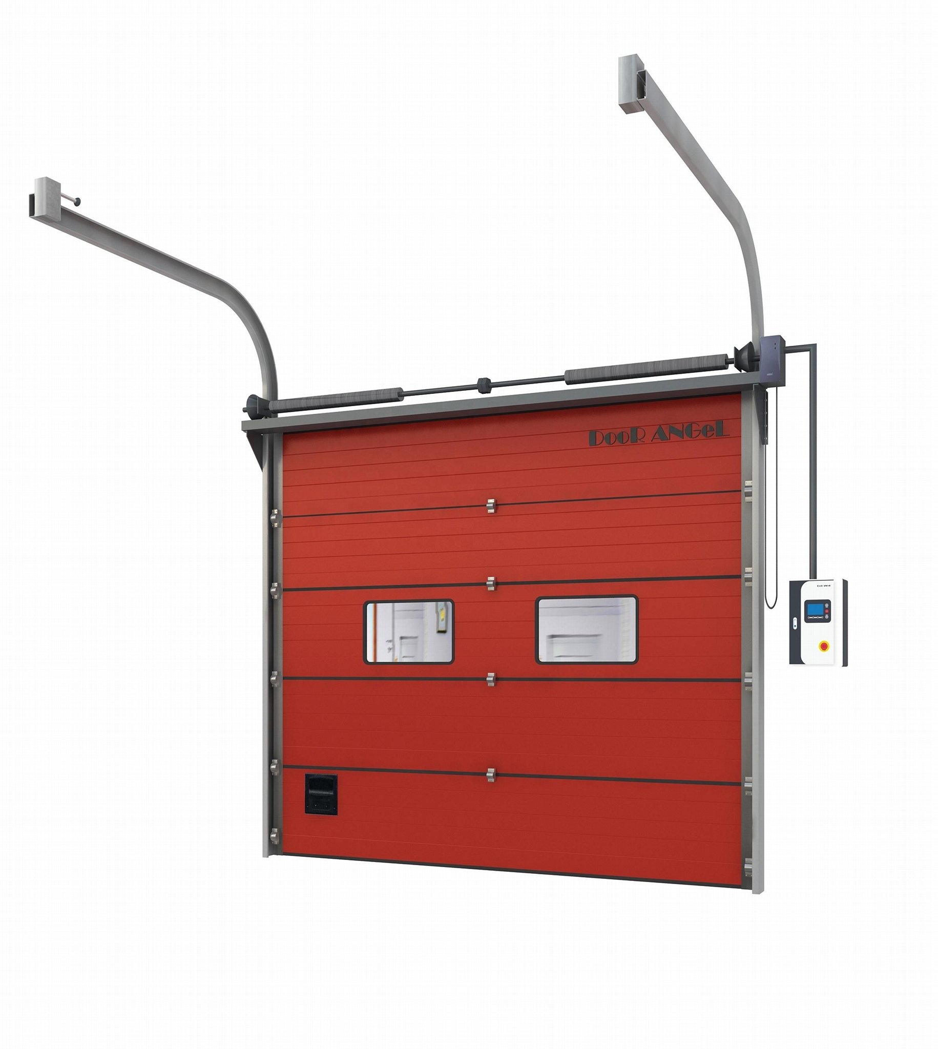 Automatic Fire Resistant Insulated Metal Gate Passage Entrance Exterior door 4