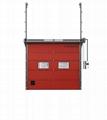 Industrial Vertical Lift Rolling Insulated Aluminium Garage Sectional Door  2