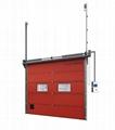 Industrial Vertical Lift Rolling Insulated Aluminium Garage Sectional Door  3