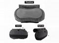 USB Micro-suede Cover Foam Padding Heat Shiatsu Back Neck Massage Pillow 1