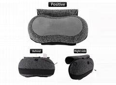 USB Micro-suede Cover Foam Padding Heat Shiatsu Back Neck Massage Pillow