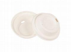Eco Friendly Disposable & Biodegradable White Lid