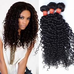 10A human hair Brazilian Human Hair Weaves  Kinky Curly Hair Vrigin
