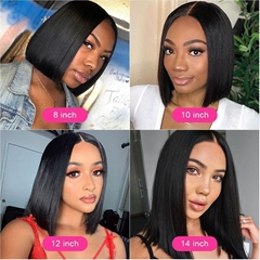 New short straight wigs Simulation Human Hair full wig good quality for women