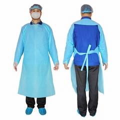 一次性隔離衣PE袍反穿衣塑料防水圍裙