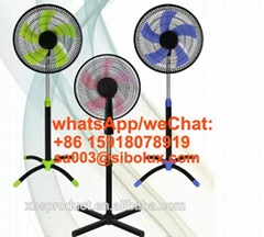 AC power source 16/18 inch plastic standing fan cross base/round base/ventilador
