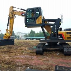 三一150挖掘机驾驶室升降改装