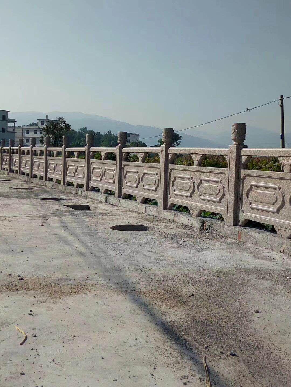 GRC水泥仿石栏杆桥梁河道人造石混凝土仿大理石护栏制作安装 3