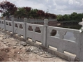 GRC水泥仿石栏杆桥梁河道人造石混凝土仿大理石护栏制作安装 5