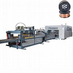 Corrugated carton box folding gluing stitching and gluer stitcher machine