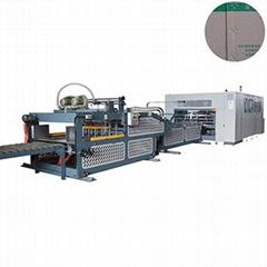 corrugated carton box folder gluer stitcher machine with double wall