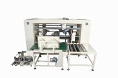 Two piece joined box semi  semi automatic corrugated carton sttiching machine