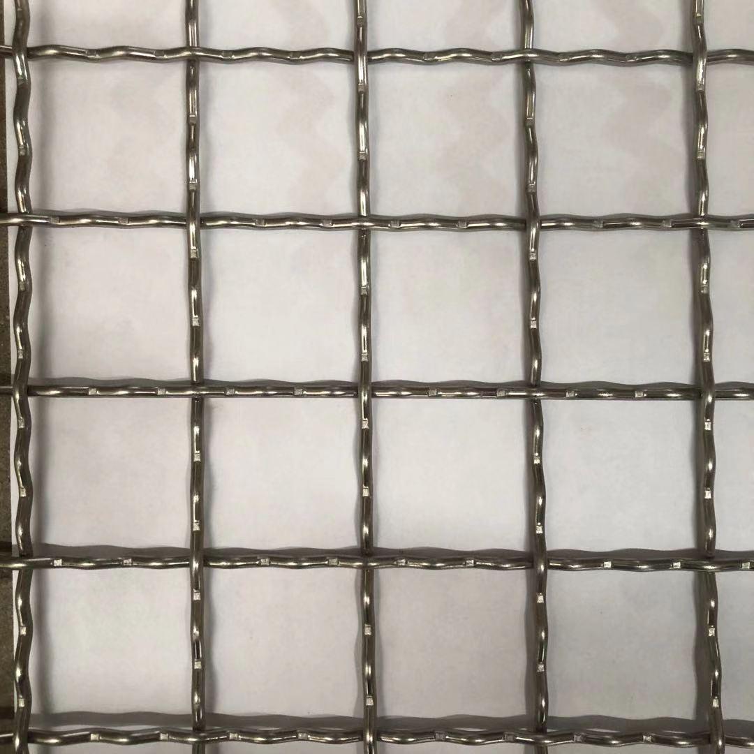 供应304材质不锈钢轧花网现货 2